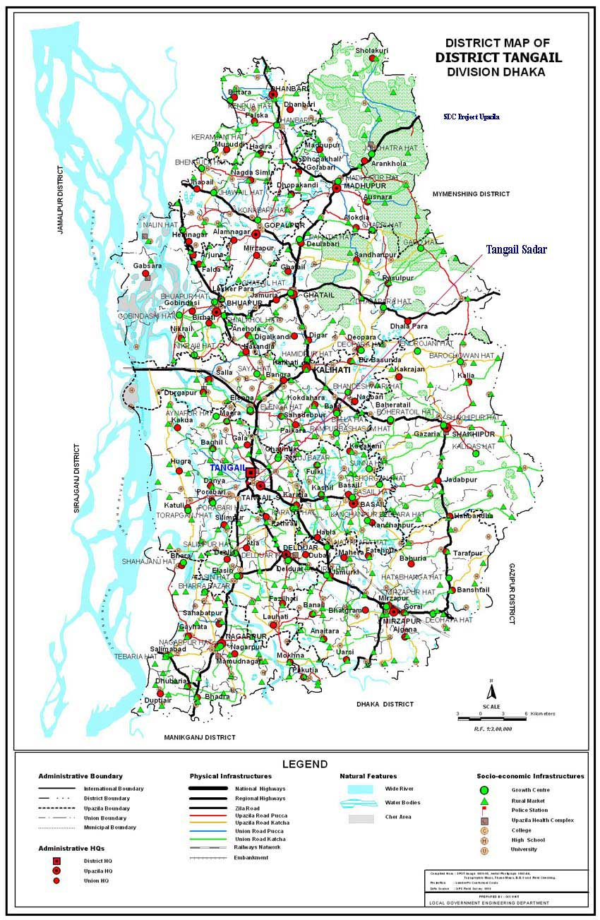 Index Of Sdcdist Map - Tangail map