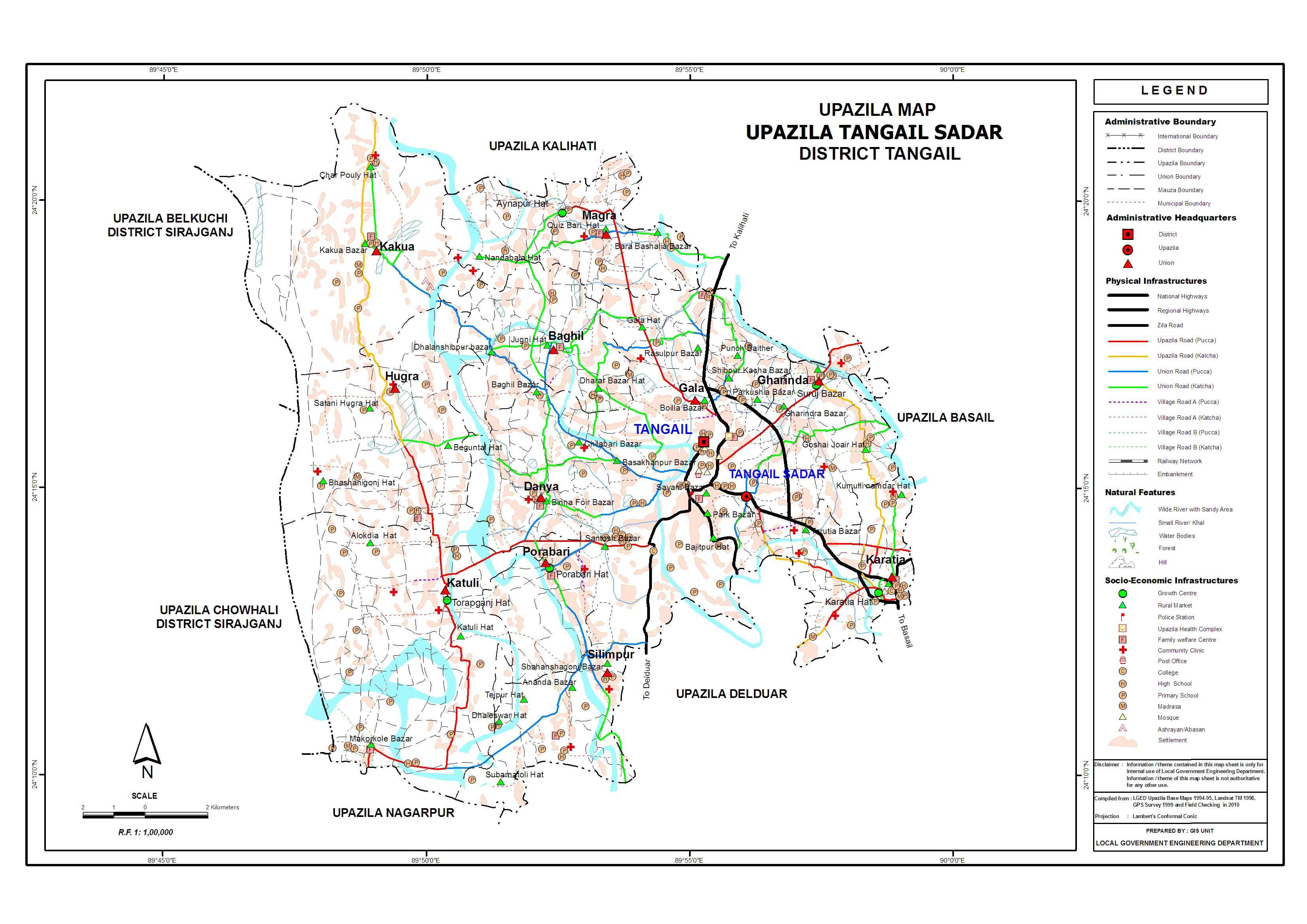 Index Of SdcUPZ Map - Tangail map